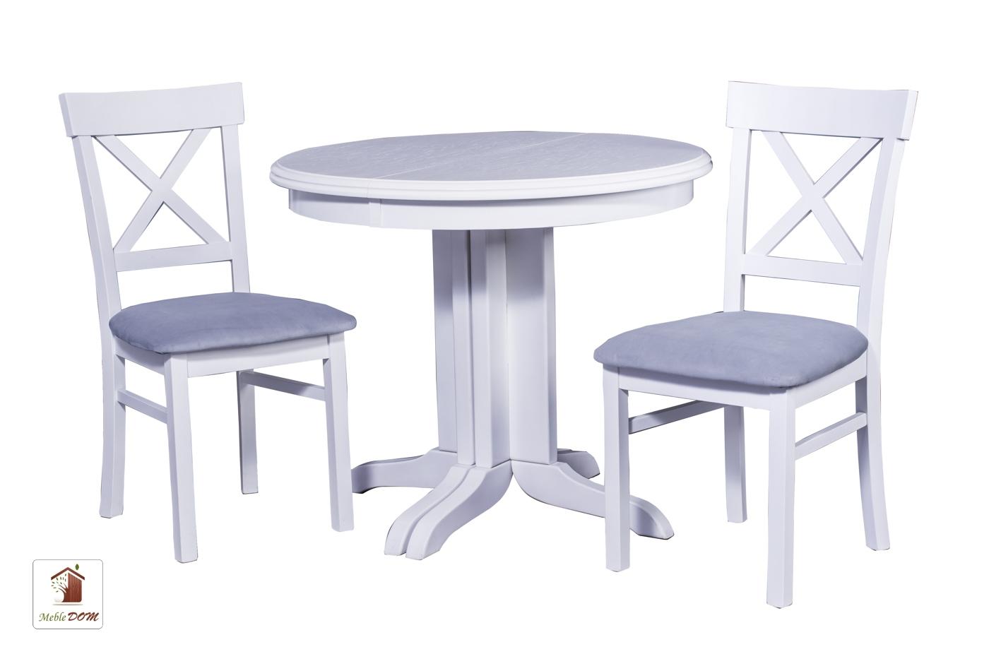 Okrągły stół rozkładany Rocabilly z krzesłami Nord One