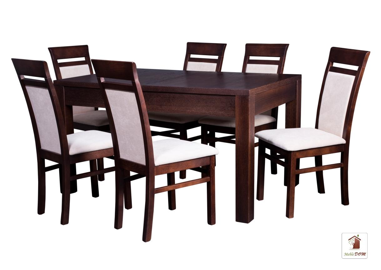 Prostokątny stół rozkładany Strong z krzesłami May II