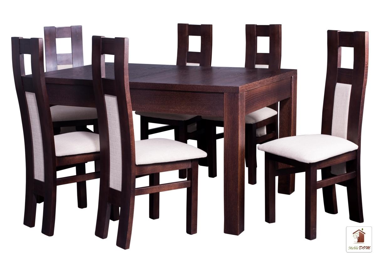 Prostokątny stół rozkładany Strong z krzesłami Open1 II