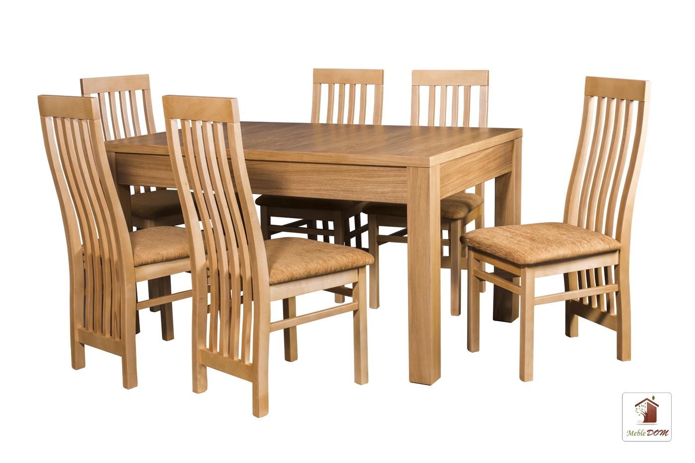 Prostokątny stół rozkładany Strong z krzesłami Igor II