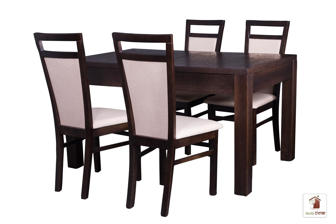 Prostokątny stół rozkładany Strong z krzesłami Paloma