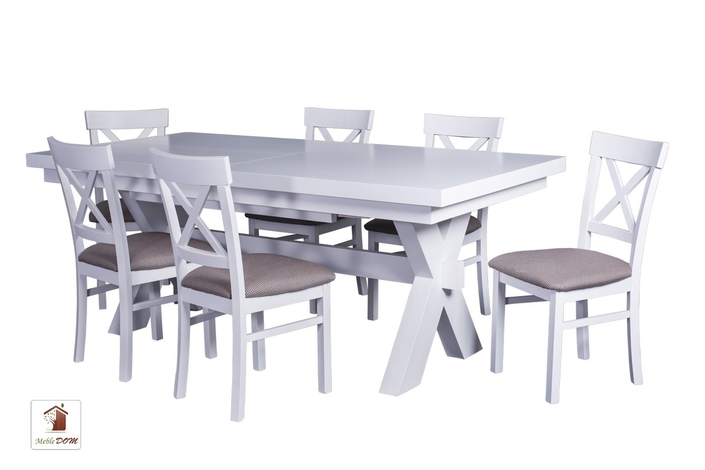 Prostokątny stół rozkładany Malmo z krzesłami Nord One
