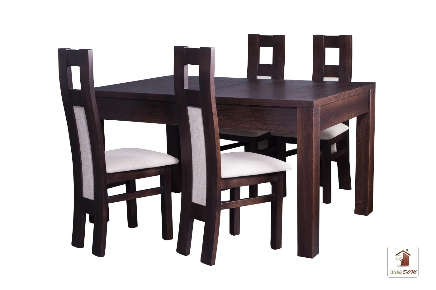 Prostokątny stół rozkładany Strong z krzesłami Open1