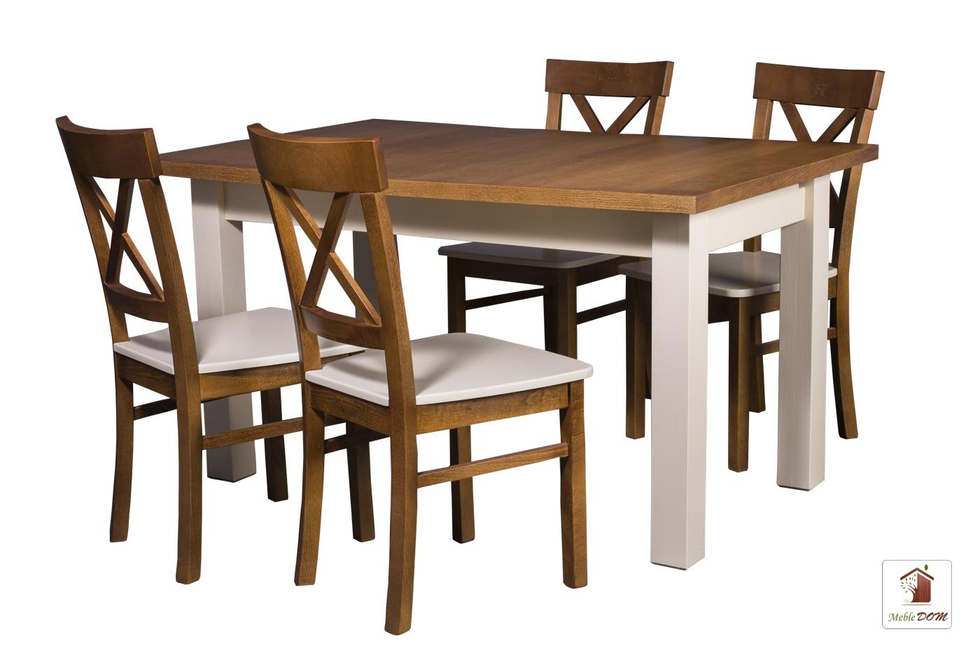 Prostokątny Stół Rozkładany Natur Z Krzesłami Nord Ib Meble Dom