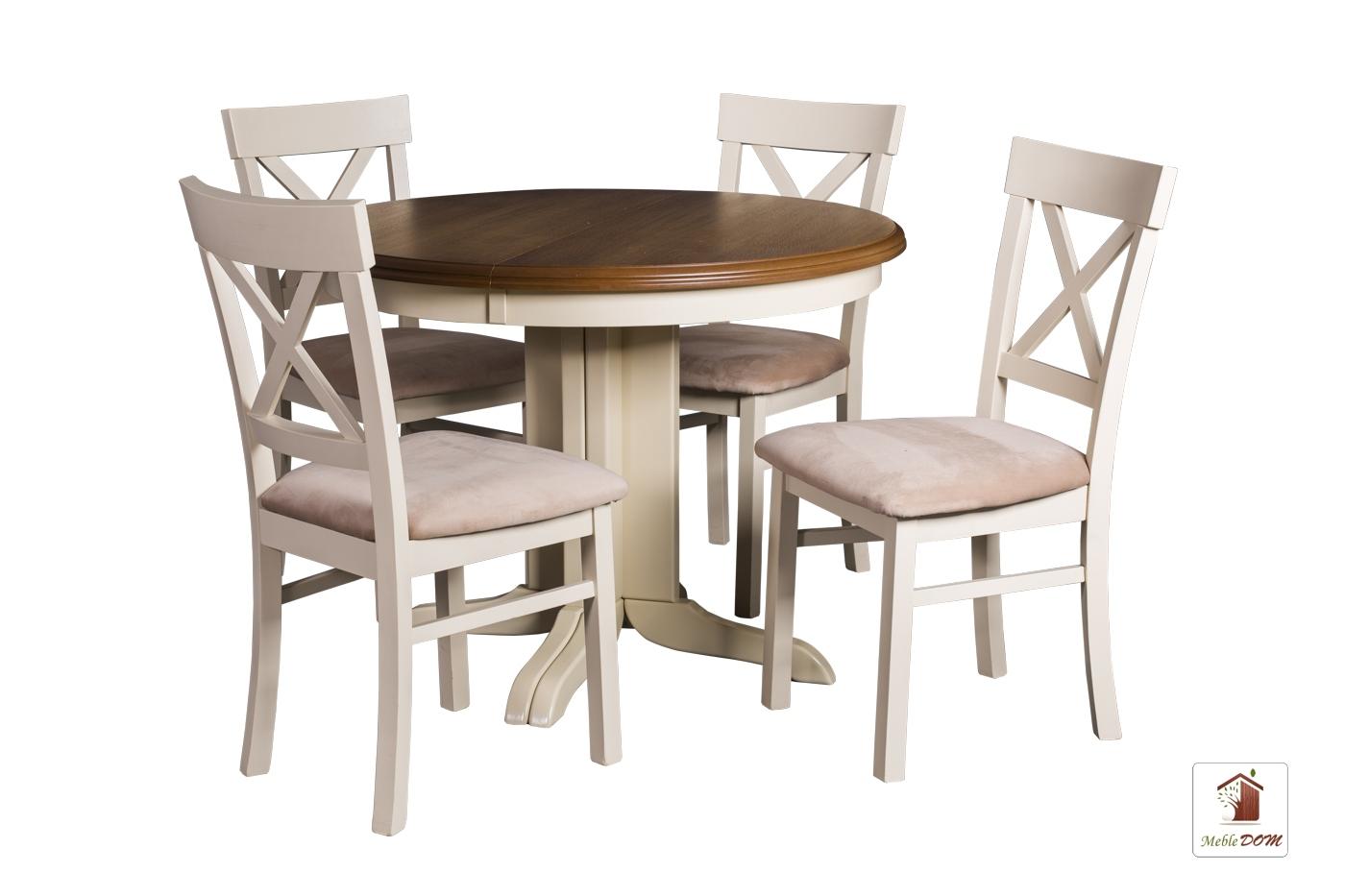 Okrągły stół rozkładany Rockabilly z krzesłami Nord One II