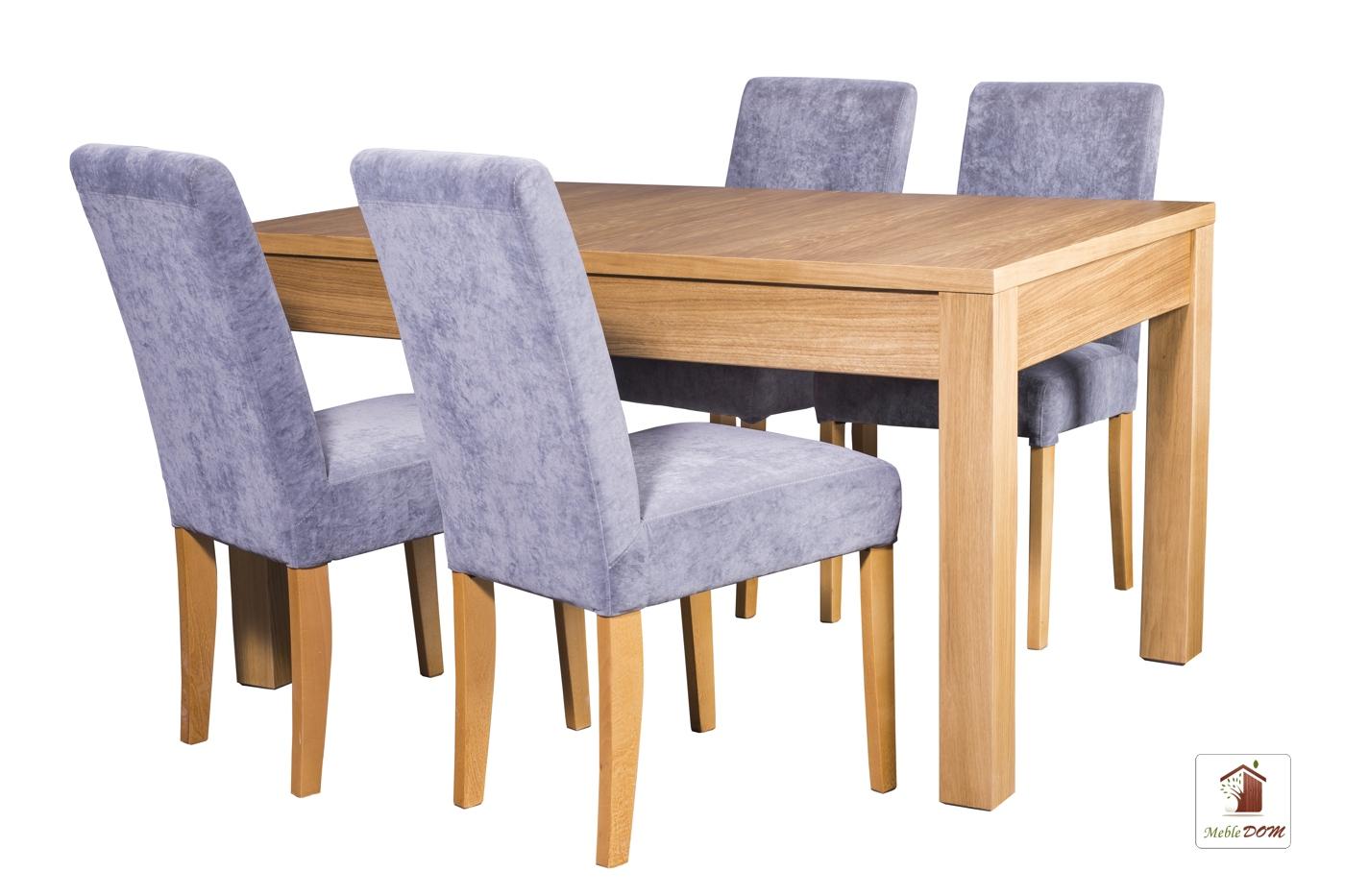 Prostokątny stół rozkładany Strong z krzesłami CC-1