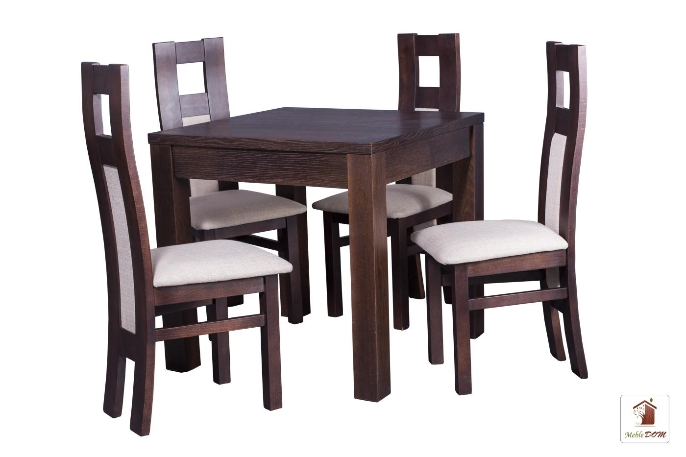 Kwadratowy stół rozkładany Strong Square z krzesłami Open1