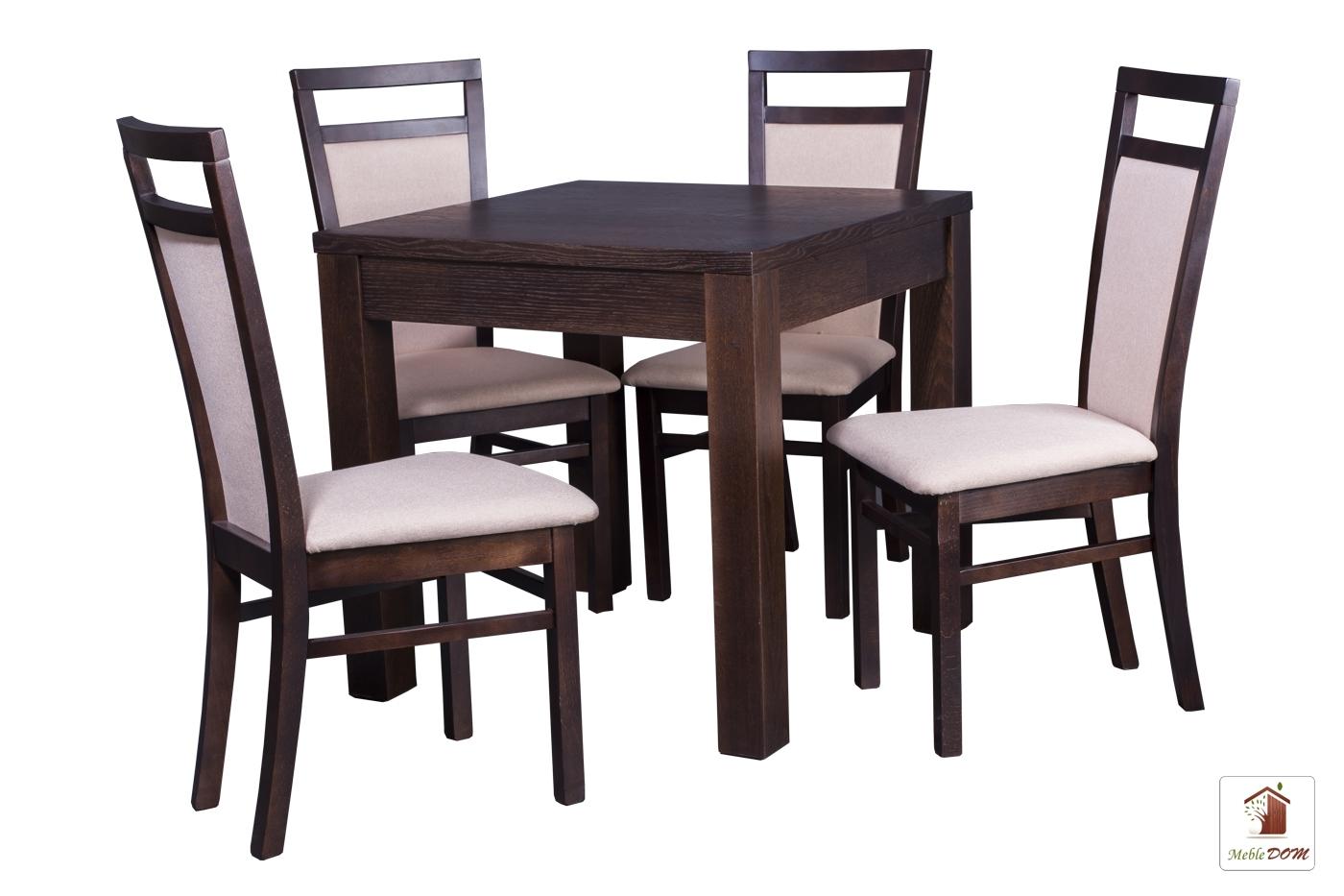 Kwadratowy stół rozkładany Strong Square z krzesłami Paloma