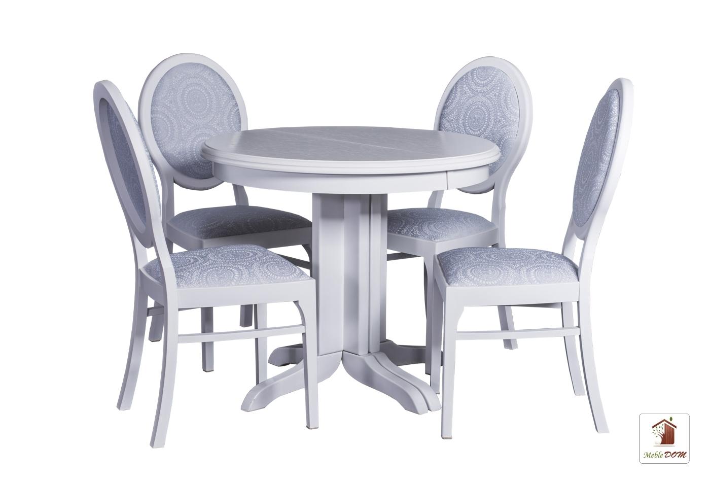 Okrągły Stół Rozkładany Rocabilly Z Krzesłami Lord