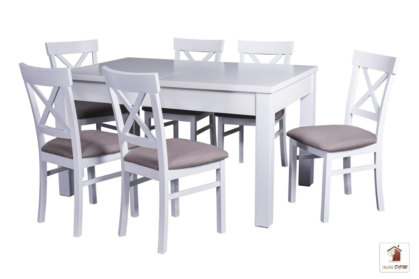 Prostokątny stół rozkładany Strong z krzesłami Nord One