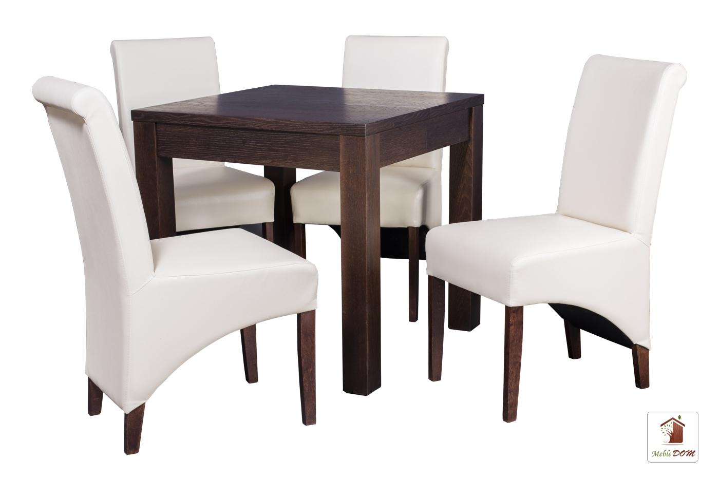 Kwadratowy stół rozkładany Strong Square z krzesłami CC-4
