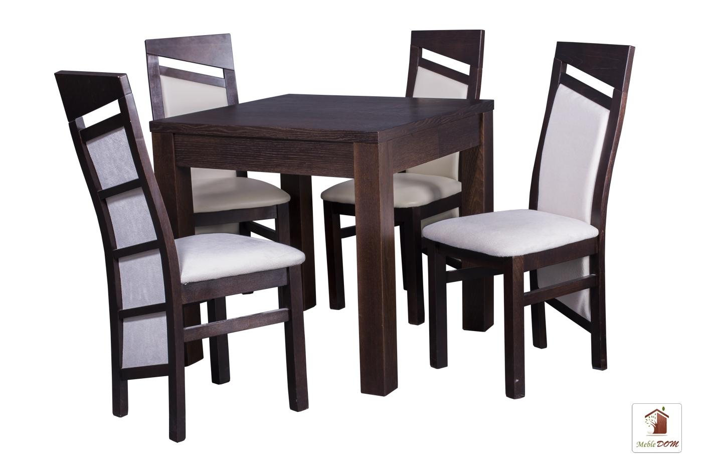 Kwadratowy stół rozkładany Strong Square z krzesłami Edward