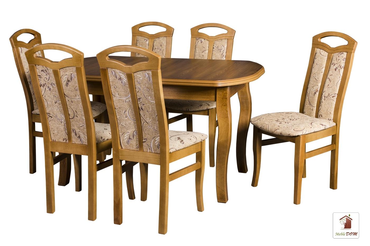 Prostokątny stół rozkładany Swan Elegant z krzesłami Jakub