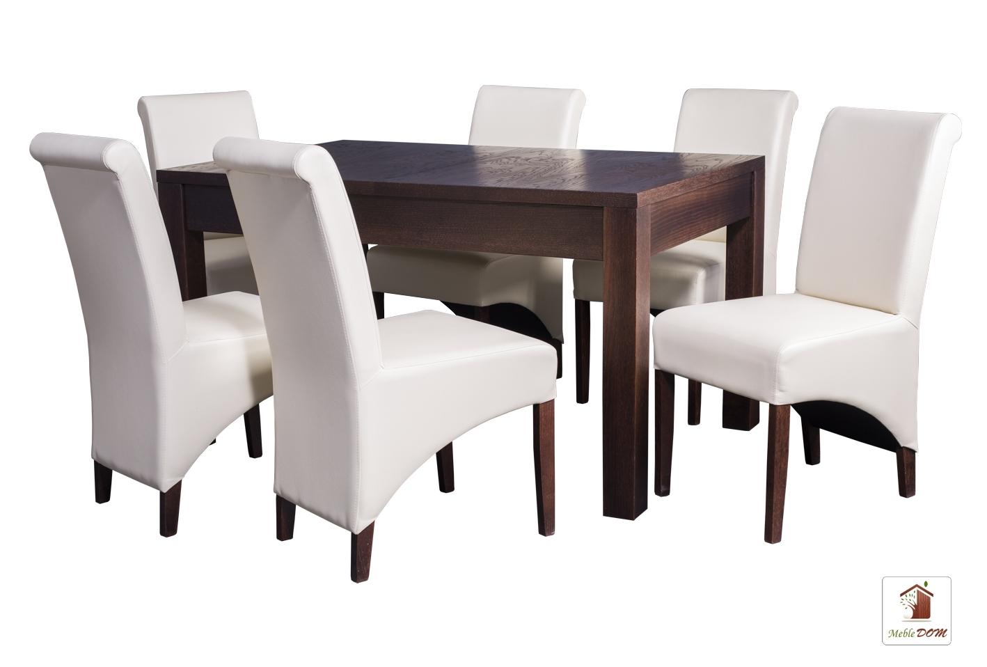 Prostokątny stół rozkładany Strong z krzesłami CC-4 II