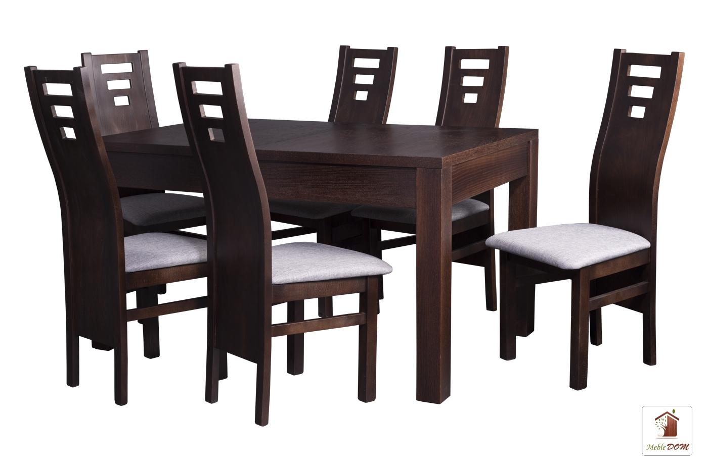 Prostokątny stół rozkładany Strong z krzesłami Design1 II