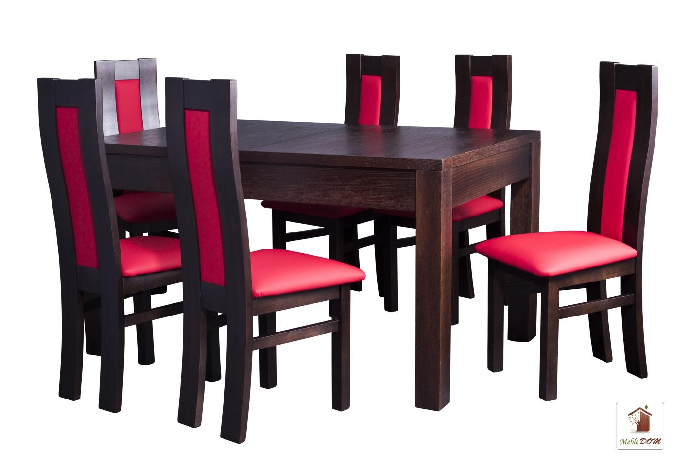 Prostokątny stół rozkładany Strong z krzesłami Open3 II