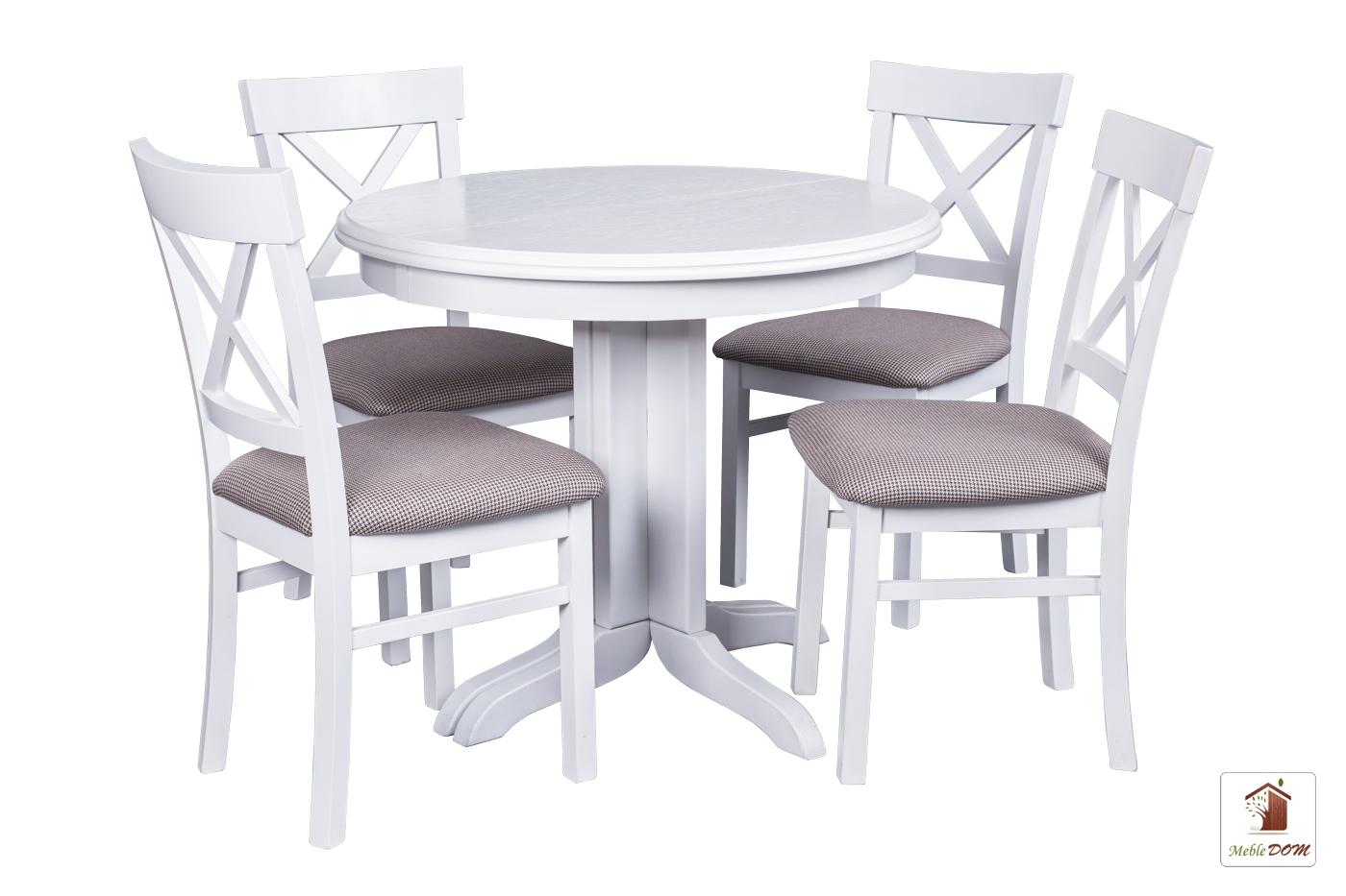 Okrągły Stół Rozkładany Rocabilly Z Krzesłami Nord One Iii