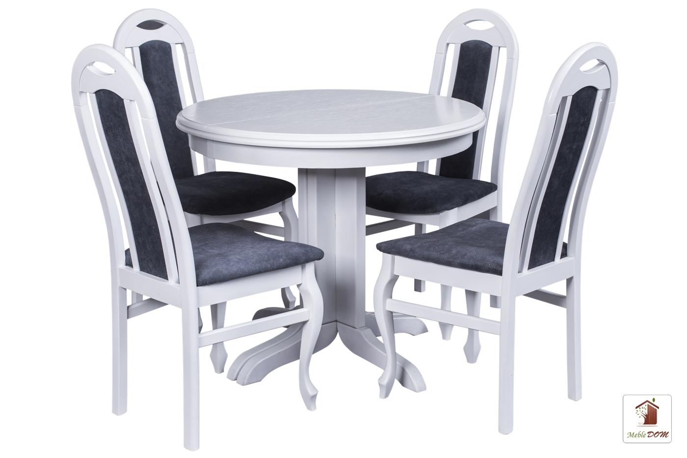 Okrągły stół rozkładany Rockabilly z krzesłami Dar