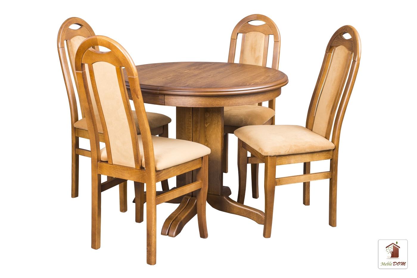 Okrągły stół rozkładany Rockabilly z krzesłami Dar Simple