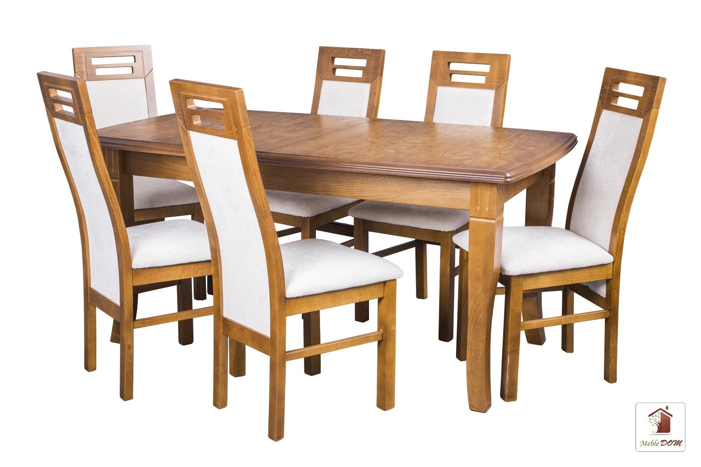 Prostokątny stół rozkładany Diament Elegant z krzesłami Rotterdam