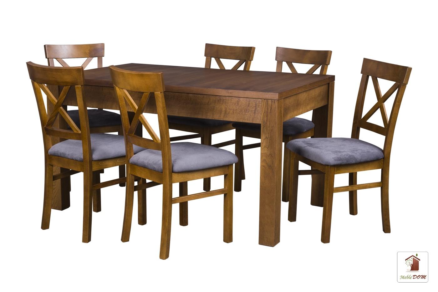 Prostokątny stół rozkładany Strong z krzesłami Nord One IIB
