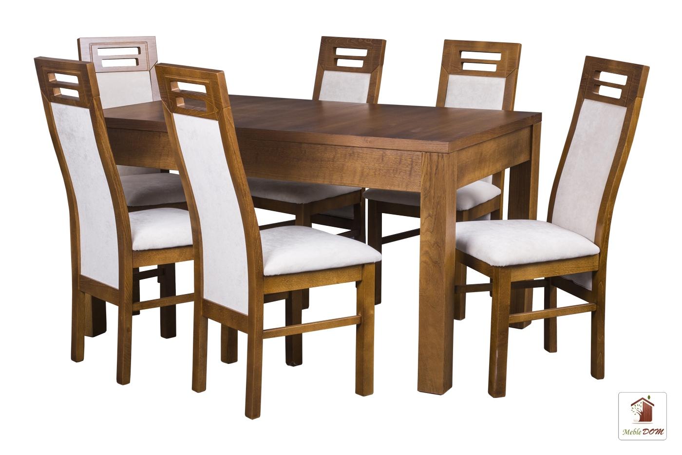 Prostokątny stół rozkładany Strong z krzesłami Rotterdam