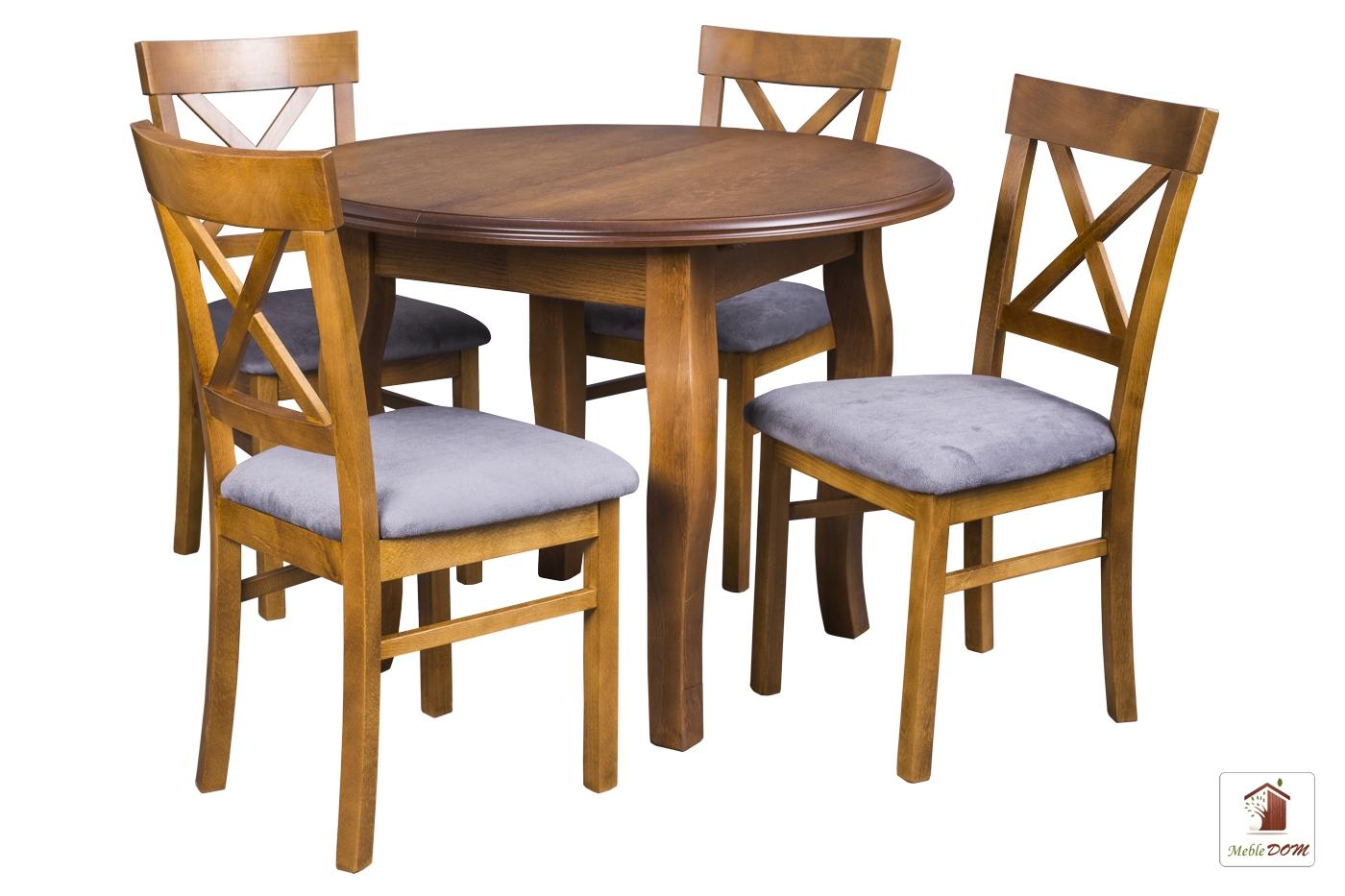 Okrągły Stół Rozkładany Swan Elegant Z Krzesłami Nord One Meble Dom