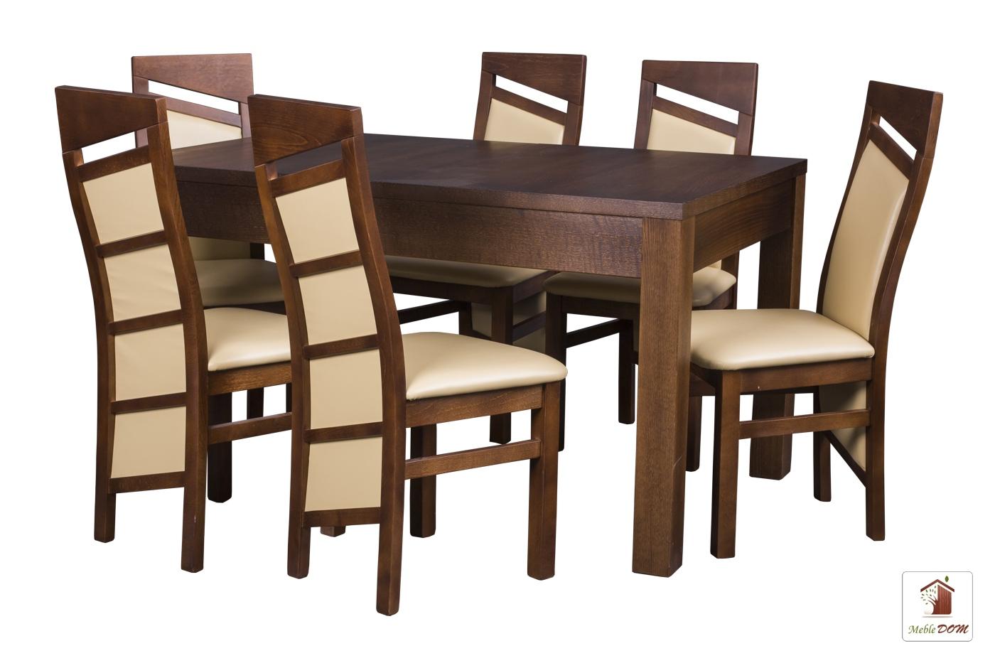Prostokątny stół rozkładany Strong z krzesłami Edward