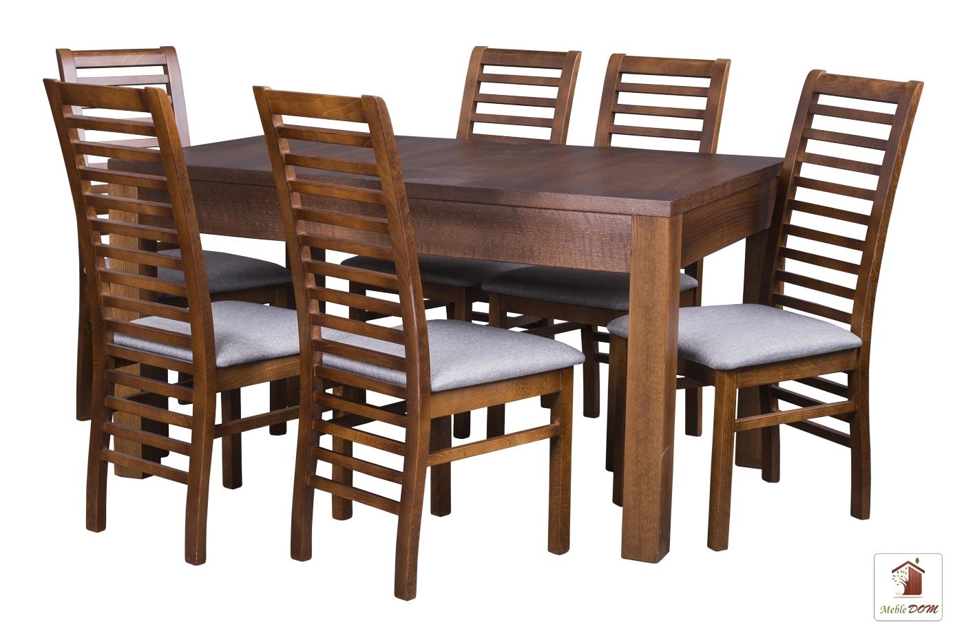 Prostokątny stół rozkładany Strong z krzesłami  Iwo II