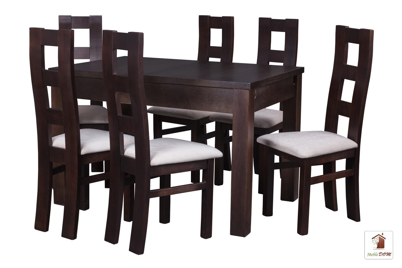 Prostokątny stół rozkładany Strong z krzesłami Open2 II