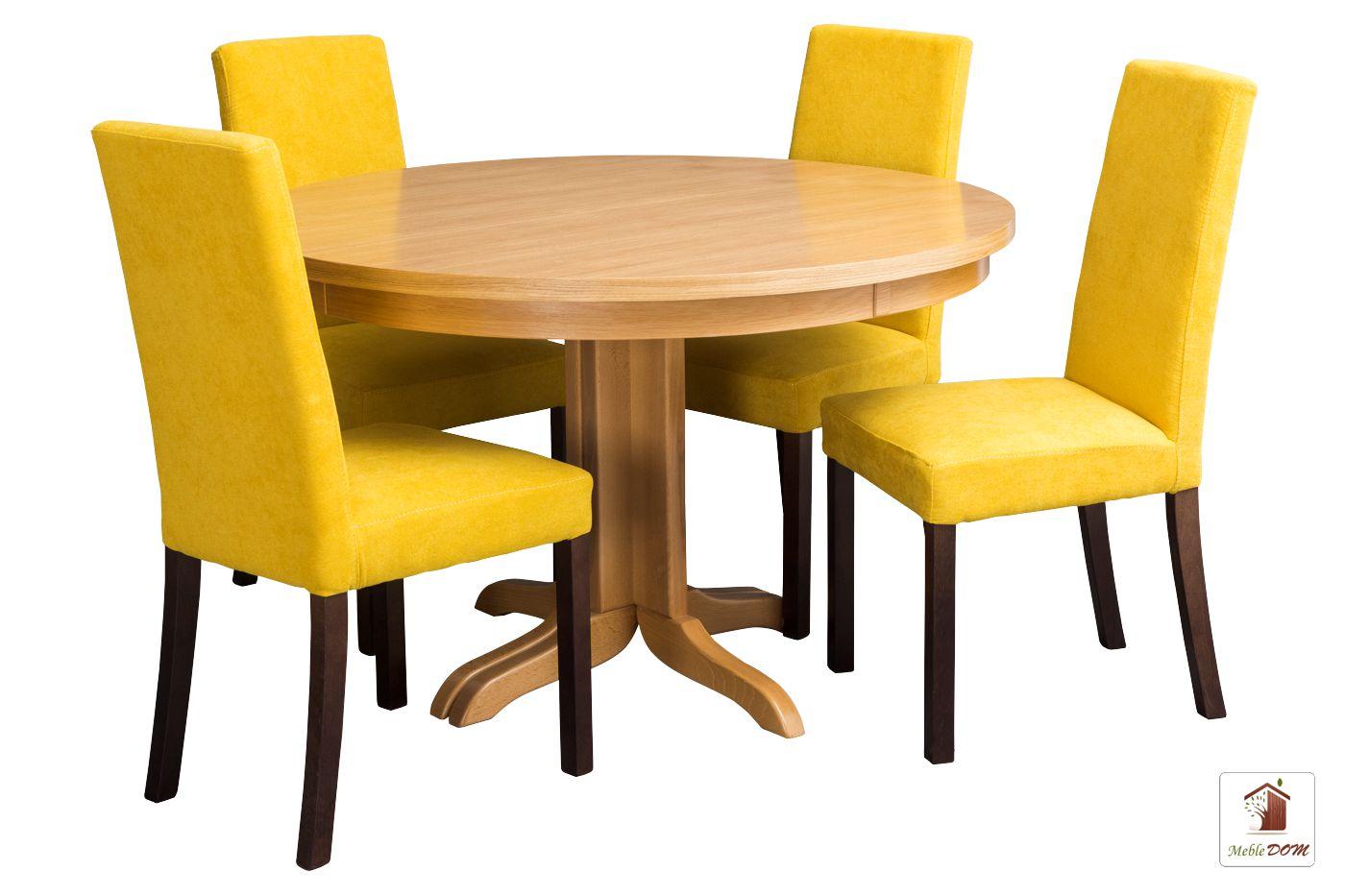 Okrągły stół rozkładany Rockabilly Flat z krzesłami CC-5
