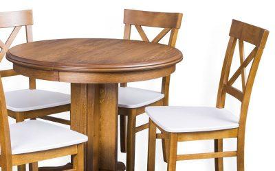 Okrągły stół rozkładany – praktyczna elegancja