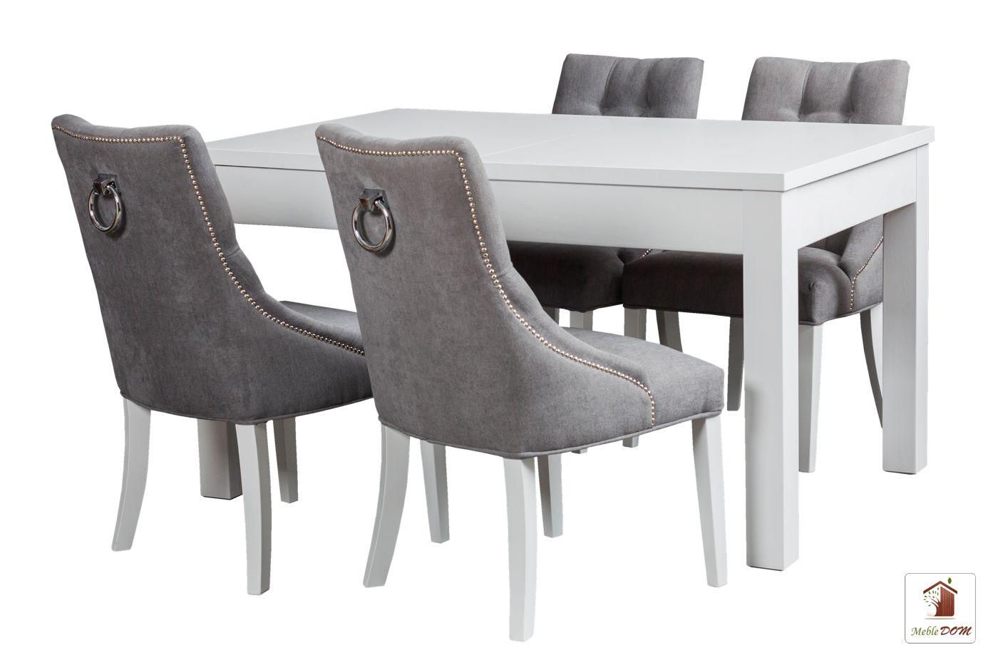 Prostokątny stół rozkładany Strong z krzesłami Diana