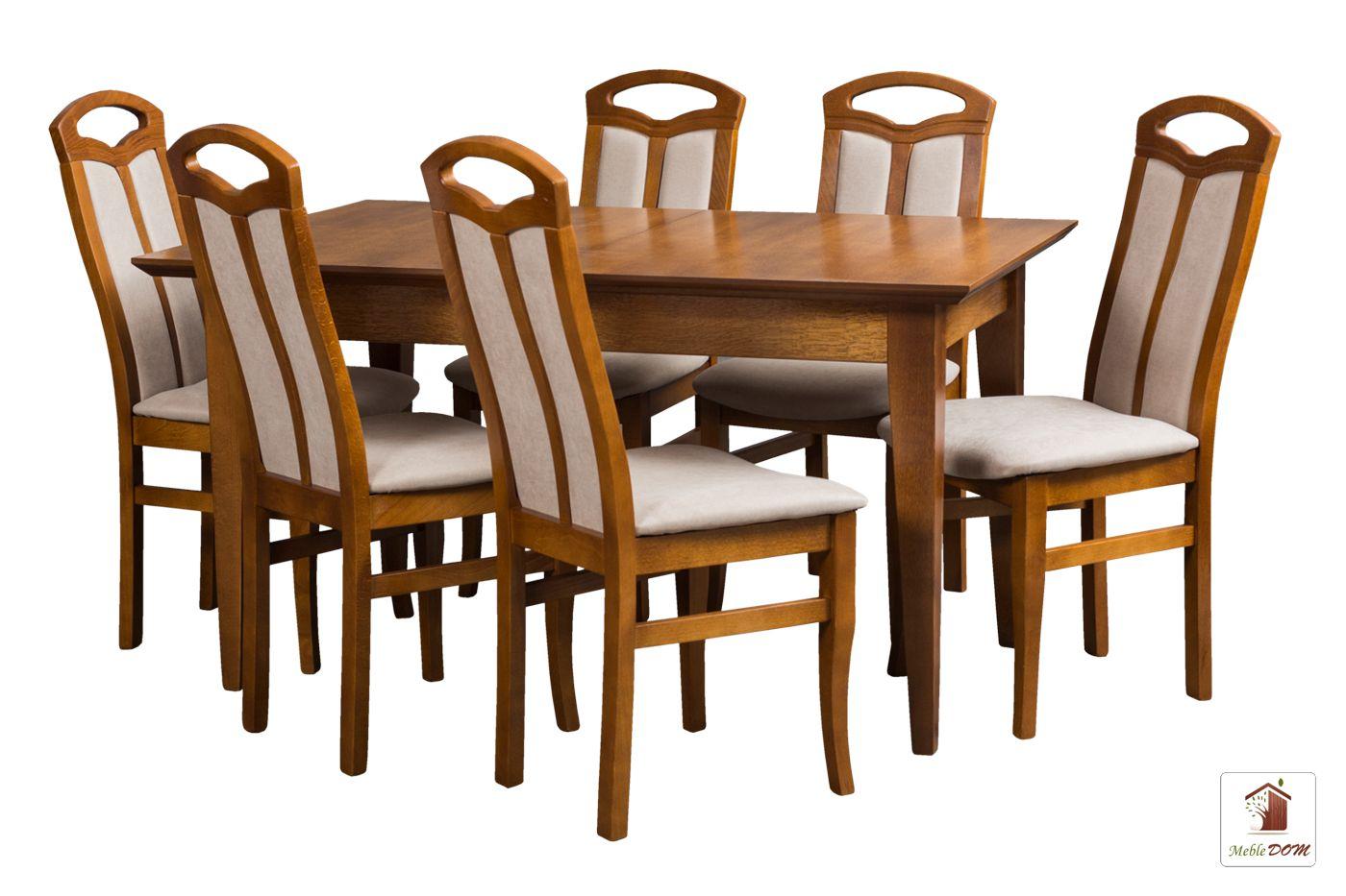 Prostokątny stół rozkładany Madrid z krzesłami Jakub