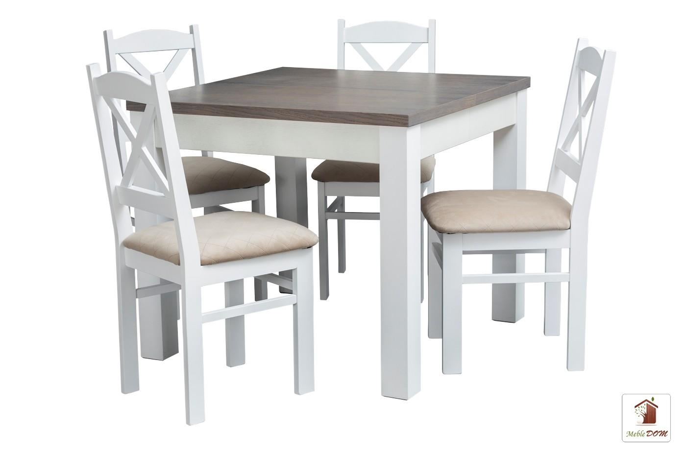 Kwadratowy stół rozkładany Strong Square z krzesłami Nord Mini